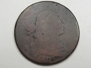 1803 US Draped Bust Large Cent Coin. #4