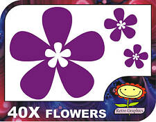 40 Purple Oriental Flower Car Stickers Decals Graphics Window Wall Body Panel