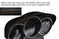 Cuciture color arancio Si Adatta Mazda AVVIAMENTO A 03-12 Speedo Gauge Cappuccio DELL' ALCANTARA pelle coprire solo