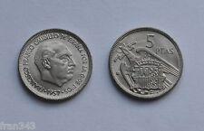 MONEDA de 5 pesetas 1957  *70 Franco SC / SPAIN km#786 UNC