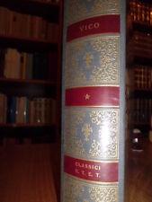 Vico - La Scienza nuova e altri scritti - Classici della Filosofia - UTET - 1976
