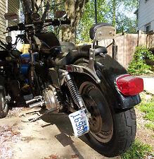 Harley Davidson Custom Rolled Vertical License Plate Bracket