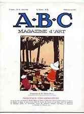 A-B-C Magazine d'Art 1926  Sté des Artistes Indépendants Courbet dessin de mode