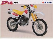 1993 SUZUKI DR350 2 page Motorcycle Brochure NCS