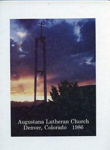 Original 1986 Augustana Lutheran Church Yearbook - Denver, Colorado - Members