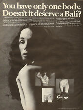 1968 Vintage ad for Bali~Bras/Girdle`Model with Long dark hair/sexy (111313)