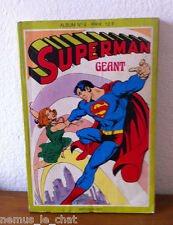 Comics Français  SAGEDITION  Superman Géant album N° 4  10-11-12