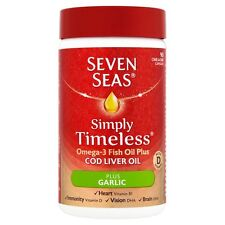 SEVEN SEAS SIMPLY TIMELESS COD LIVER OIL PLUS GARLIC - 90 CAPSULES
