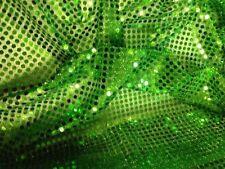 Pailletten Stoff grün 6mm Durchmesser Meterware