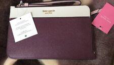Kate Spade Cameron Medium L Zip Leather Wristlet Cherrywood WLRU5438