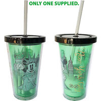 Disney Store Minnie Mouse Lady Liberty New York Plastic Reusable Tumbler & Straw