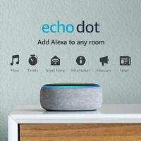 Amazon Echo Dot 3rd Generation Alexa Voice Media Device HEATHER GRAY BRAND NEW!