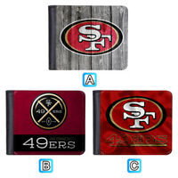 San Francisco 49ers Leather Men Wallet Purse Card Holder Bifold