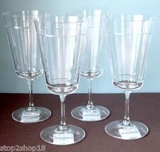 Wedgwood Sloane Square Iced Beverage Set of 4 Glasses Crystal Germany NEW
