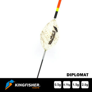 """POLE FISHING FLOAT - The Kingfisher """"Diplomat"""" Pack of 4 HIGH QUALITY ROHACELL"""