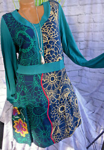 Joe Browns Damen Kleid Jerseykleid Langarm Grün gemustert (848) Übergröße NEU