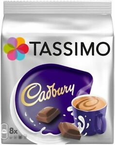 TASSIMO Cadbury Hot Chocolate Coffee T-discs/Pods 8/ 16/ 24/ 32/ 40 Drinks