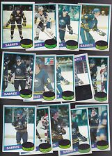 1980 / 81 Topps Team SET lot of 14 Buffalo SABRES NM+ GARE MARTIN PERREAULT