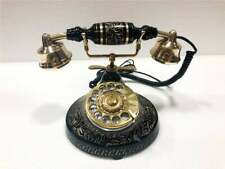 Beautiful Vintage Rotary Brass & Iron Antique Telephone European Style Phone