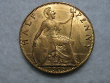 More details for 1908 edward vii halfpenny coin - very high grade with lots lustre