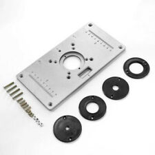 For Woodworking Benches Aluminum Router Table Insert Plate With/4Rings Screws