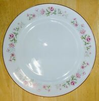 """Grant Crest Fine China Dianne Dinner Plate Roses Pink/Gold Trim 10 5/8"""" Very Gd!"""