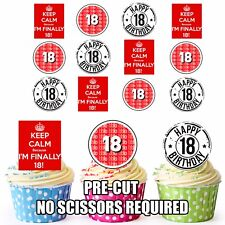 PRECUT Finally 18th Birthday Cake Decorations Cup Cake Toppers Boys Or Girls