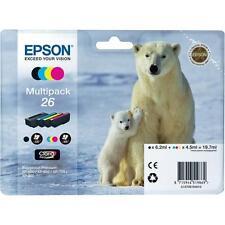 Epson 26 Multipack BCMY Ink Cartridge Set for EPSON XP-610 XP-620 Polar Bear 26