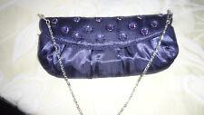 Gorgeous Purple Evening Clutch, chain strap handbag purse