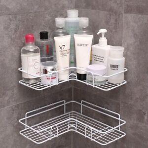 Iron Bathroom Shelf Shower Wall Mount Shampoo Storage Holder With Suction Cup No