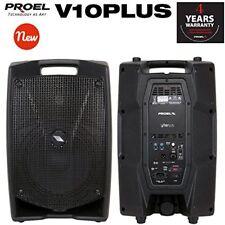 Proel V10PLUS Cassa Monitor Diffusore bi-amplificato a 2 vie 600W Picco, Nero