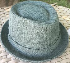ANTHONY PETO KEROUAC TEIL BLUE TRILBY PORK PIE ACYLIC FEDORA S 55CM France Paris