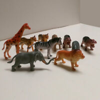 10PCS Plastic Wild Animals Model Kids Toys Figures Play Set Cupcake Topper Favor