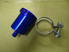 BILLET Aluminium BLUE  Brake Clutch Reservoir Pot - Streetfighter Cafe Racer