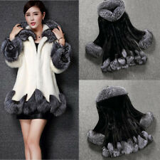 Fashion Women Winter Warm Solid Long Sleeve Parka Outwear Casual Faux Fur Coat