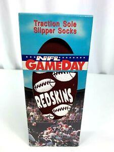 Vintage Team NFL Washington Red Skins  Slipper Socks brad new sealed !!!!!