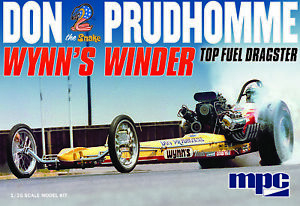 """MPC 921 1/25 Don """"Snake"""" Prudhomme Wynns Winder Dragster Plastic Model Kit"""