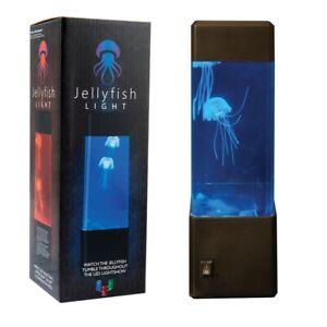 Novelty Jelly Fish LED Tank Jellyfish Desk Bed Night Mood Light Lamp Stem Toy