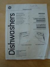 GE DISHWASHERS OWNER'S MANUAL GDF510-540 & GDT530-550 SERIES