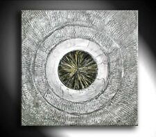 JEAN SANDERS --- STRUKTURBILD -- 80 x 80 x 4 cm - gold/silber metallic/schwarz