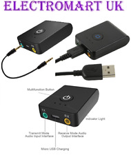 BLUETOOTH 2-IN-1 AUDIO TRANSMITTER & RECEIVER DUAL SUPPORT