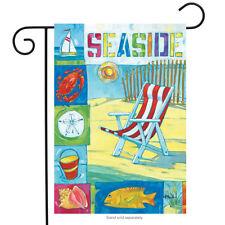 "Seaside Beach Summer Garden Flag Shore Icons Chair Fish 12.5"" x 18"""