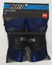 New Stx K18 Medium Adult Royal Blue Lacrosse Arm Guards / Pads