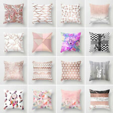 DECOR THROW PILLOW CASE GEOMETRIC STRIPED FLOWER HOME SOFA CUSHION COVER CLASSY