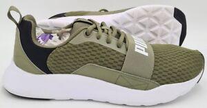 Puma Wired Running Trainers 366970-12 Green/White UK9.5/US10.5/EU44