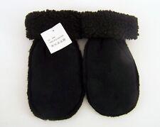 Damenhandschuhe Faust Art Velours schwarz gefüttert Gr. S/M 100 % Polyester