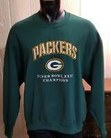 VTG NFL Green Bay Packers Football 1996 Super Bowl 31 Delta Sweatshirt Sz XL