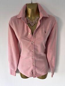 Exquisite Ralph Lauren Sport Pink Skinny Fit Shirt Blouse UK8 Stunning