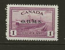 CANADA 1949 SGO170 $1 Purple with O.H.M.S. Overprint Fine MINT Cat £45