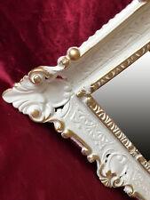 Wall Mirror White Gold Antique Baroque Bathroom Floor Vanity 56x46 1
